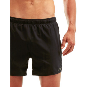 "2XU Xvent 5"" Shorts with Brief Men, black/silver reflective"